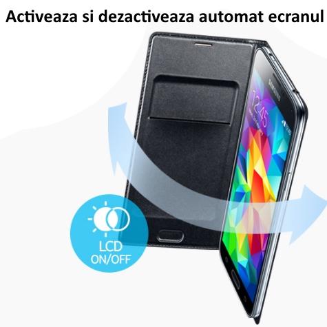 Husa Flip Wallet Cover pentru Samsung Galaxy S5 (G900) 3
