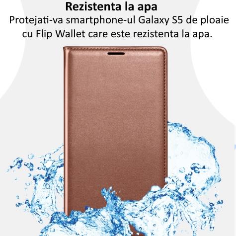 Husa Flip Wallet Cover pentru Samsung Galaxy S5 (G900) 4