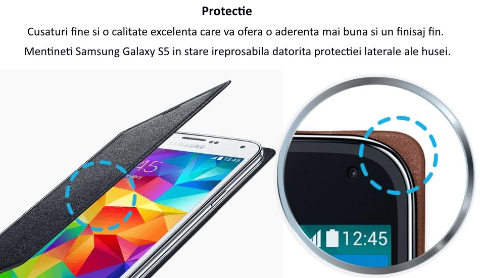 Husa Flip Wallet Cover pentru Samsung Galaxy S5 (G900) 5