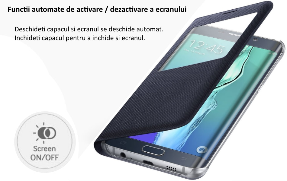 Husa Flip S View Cover pentru Samsung Galaxy S6 Edge+ (G928) 1