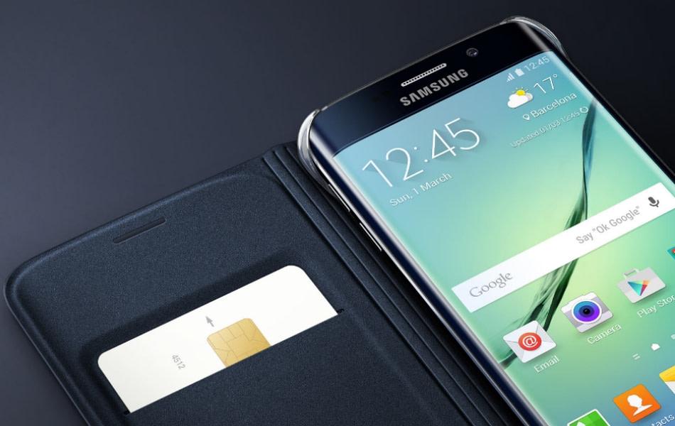 Husa Flip Wallet Cover Fabric pentru Samsung Galaxy S6 Edge (G925) 1